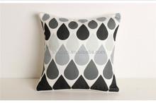 Geometric graphic printed sofa decorative cushion,lastest design drip pattern printed cushion cover wholesale