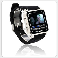 very small mobile phone 2014 new watch phone with dual bluetooth for android phone and iphone