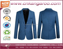 man suit for uniform design slim suit blue color