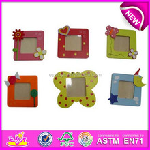 Mini wooden photo picture frame for kid,wooden toy wall photo frame for children,colorful wooden picture frame for baby WJ277967
