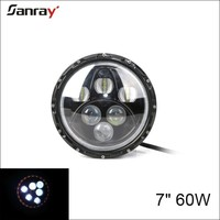 NEW 7Inch 60W Round angle eyes halo ring LED Driving Light