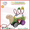 EN71 Goodkids popular handmade wooden kids toys tortoise racking pulling toys