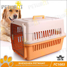 Easy to use sloping dog cage metal pan