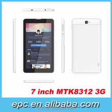 7 Inch 1024x600 Android Tablet 3G With Phonecall GPS Wifi Bluetooth1G 8G 0.3MP And 2.0MP Camera