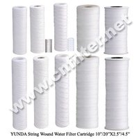 PP sediment String wound filter cartridge with 5 micron