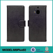 Wallet stand leather case with card pocket for HTC one M9 Plus