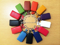 Colorful Genuine Cow Leather Car Key Case Pouch Remote Keychain Key Bag Holder