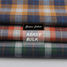 James super soft finish yarn dyed heather twill check shirt textile fabric