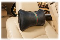 Mubo Brand Design Good For Health PU And Memory Foam Car headrest Bone Pillow