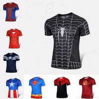 Super Hero Avengers: Age of Ultron full sublimation digital printing dry fit Tshirts mens shirts