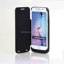 2015 New coming Backup power bank case with filp cover for samsung galaxy s6