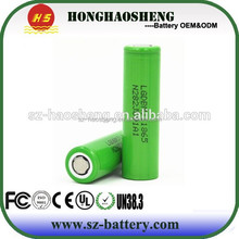 100% authentic LG Chem 18650 rechargeble battery icr18650 lg MJ1 3500MAH 10A 3.7v cylinder lithium ion battery
