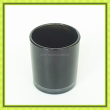 Cattelan glassware factory 13oz black cylinder round glass holder for candle fragrance.