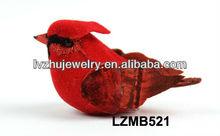 Decorative Gifts feather cardinal birds LZMB521