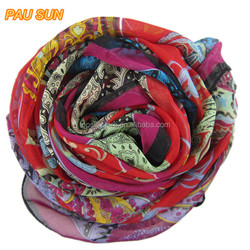 2014 wonderful lady pashmina flower pattern scarf shawls