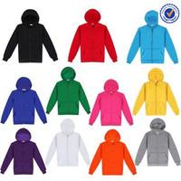 Blank zip up hoodies wholesale 100% cotton zip up hoodies plain zipper hoodie cheap