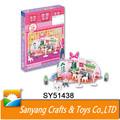 Mini sobremesa deliciosa loja de jogos de quebra-cabeça de papelão crianças brincar de casinha