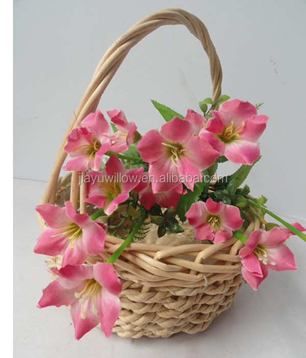 Cheap Hanging Baskets With Flowers : Wicker flower basket girl baskets wholesale hanging