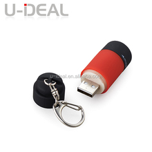 2015 mini usb led torch keychain flashlight