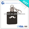 novelty 1oz mini stainless steel hip flask