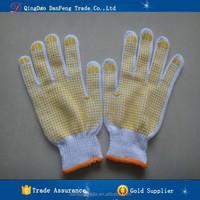 DANFENG MX603 pvc dotted cotton gloves cheap work PVC gloves