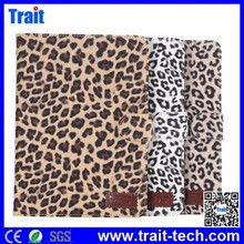 Fashion Leopard Pattern Smart Wake Sleep Function Flip PC PU Leather Case with Card Slot for iPad Mini / iPad Mini 2 R
