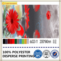 disperse/pigment printed fabric within flower design 100% polyester home textile fabric