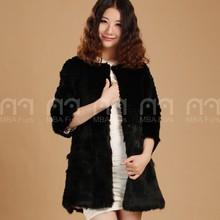 MBA Furs Real Rabbit Fur Coat Winter Fur Shop For Women