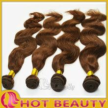 Brazilian colo 4# light brown brazilian hair