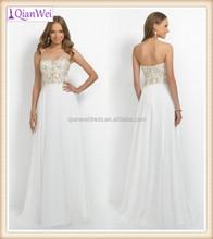 ivory long strapless sweetheart V neck beadings and sequins bodice elegant chiffon prom dress patterns