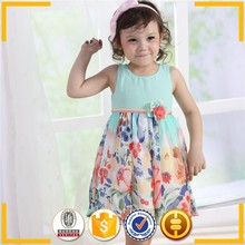 high quality blue baby cartoon clothes fancy chiffon wholesale baby clothing