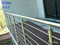 Modern stainless steel banister for outdoor and indoor decoration