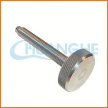 Made in china high Quality slotted knurled thumb screws with black oxide