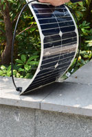Bendable solar panel home solar system