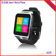 China OEM Design Cheap Wrist Bluetooth Smart Watch GSM Android 4 Band Mobile Phone S29