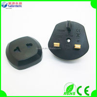 CE and ROHS 2 round pin to 3 pin adapter plug