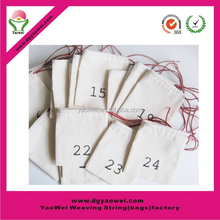 2015 hot sell promotion 120g cotton bag small cotton drawstring bag
