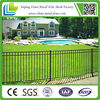 black tubular garden residential steel fence