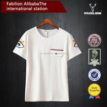 OEM China supplier bulk buy clothing,men's white organic cotton fancy printed t-shirt