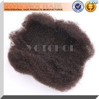 Mongolian Human Hair Natural Color Afro Kinky Hair Weave