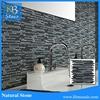3D irregular glass mosaic black kitchen tile backsplash