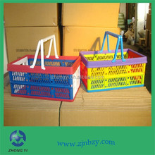 2015 hot sell foldable plastic laundry basket handle,Empty picnic baskets wholesale
