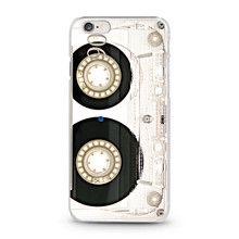 Cassette tape design mobile cover case for apple iPhone 6 plus white case customize patterns available