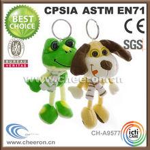 Leading custom cute frog and dog key ring