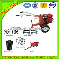 best price gasoline air cooling mini garden tractor with rotary tiller/farm implement made in China