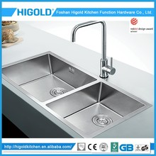 Widely Used Durable Unique Design Famous Brand Deep Stainless Steel Kitchen Sink With Double Bowl For Sale