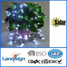 Cixi Landsign solar string lights series 4.5m 30 leds mini christmas light bulbs for holiday/garden decoration