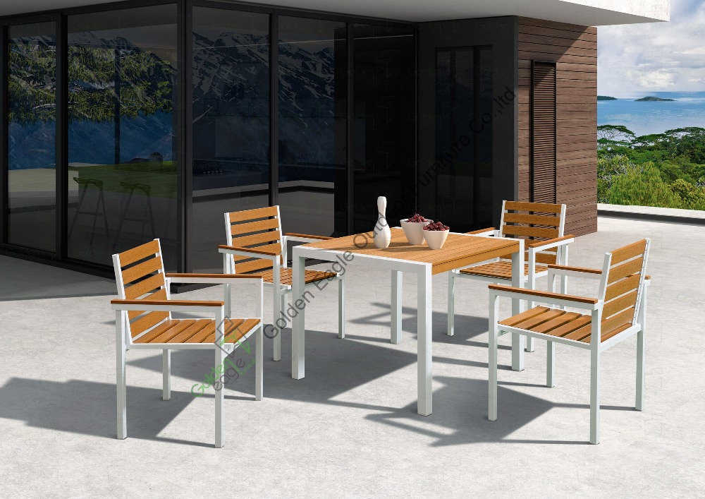 Plastic Wood Outdoor Dining Table Set View Outdoor Dining