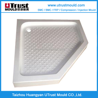 Custom-Fiber glass SMC irregular walk in shower trays mold