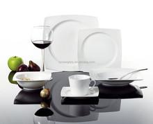 Porcelana jogo de jantar / porcelana / praça / alta qualidade / OEM ODM / placa / copo / tigela